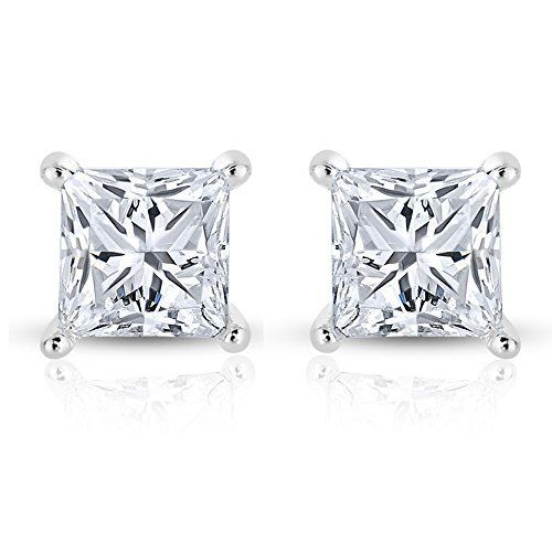 Princess Cut Diamond Stud Earrings Review Elegance Set In 14k Gold How To