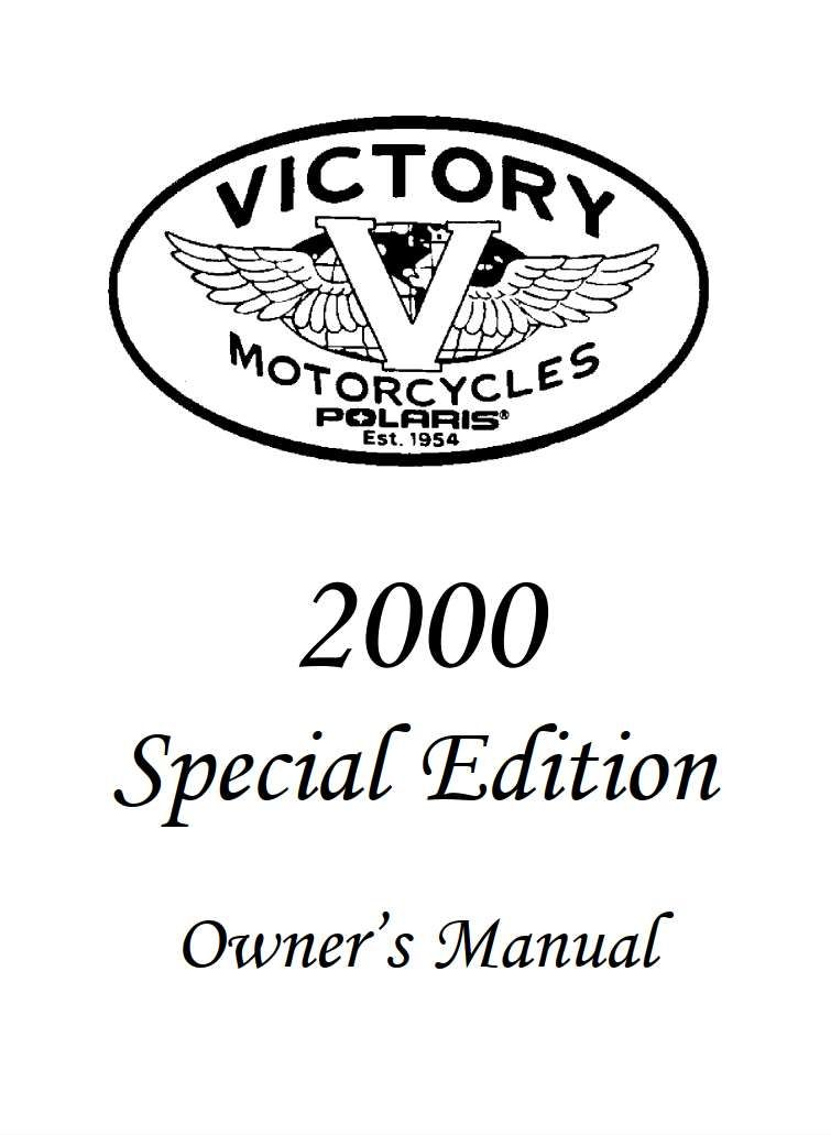 Victory Special Edition 2000 Owner's Manual has been