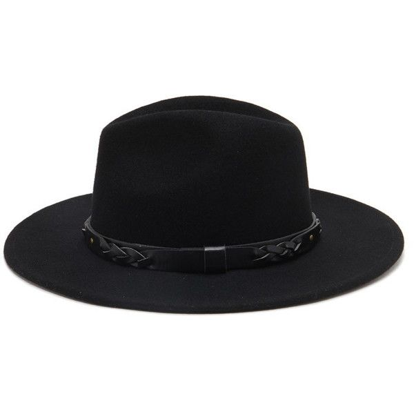 ed31945d6a28f Forever 21 Women's Braided Band Wool Fedora ($20) ❤ liked on Polyvore  featuring accessories, hats, wool brim hat, woven hat, wool hat, braided hat  and ...