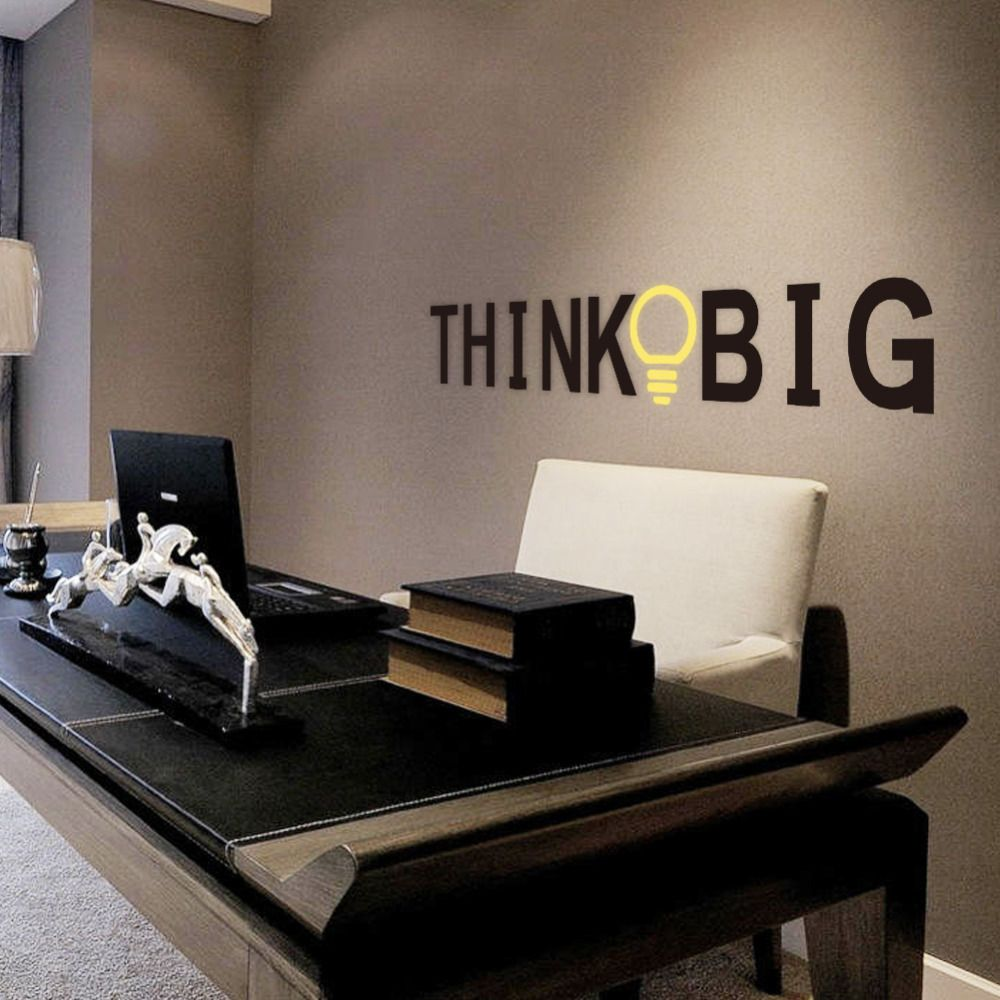 Inspirational And Motivational Wall Decal Quotes Think Big Office  Decoration ZY8251