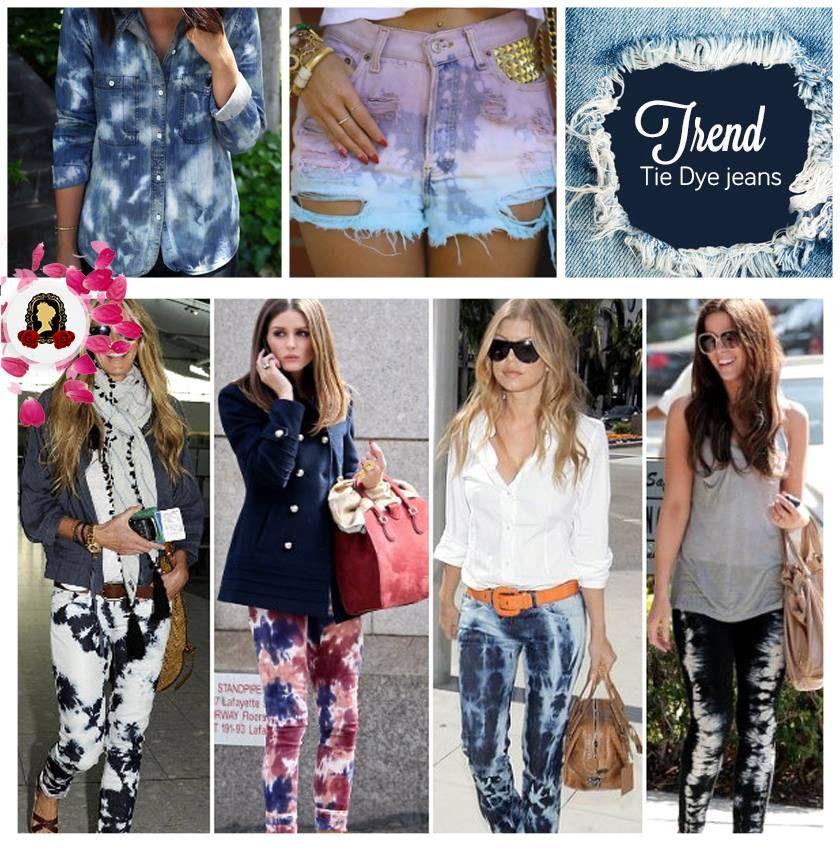 Quanto mais lavado, mais moderno! O jeans é a bola da vez e ganhou uma cara bem cool nessa versão tie-dye. #dica #trend #tendência
