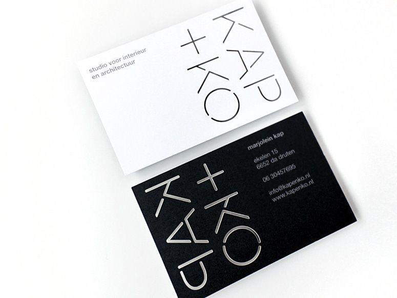 Identity Studio Kap+Ko Business Cards PRODUCTION METHOD Laser-Cut DESIGN CAPAZ PRINTING Drukkerij Pascal