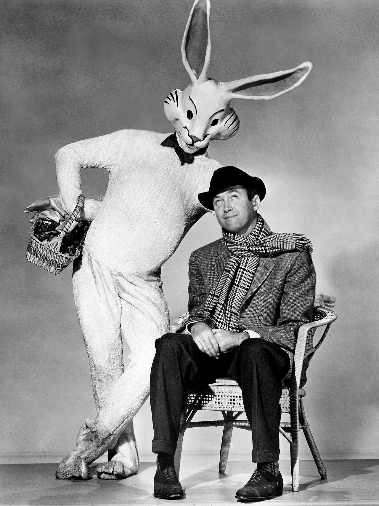 "Harvey with Jimmy Stewart for ""Harvey"" (1950) 
