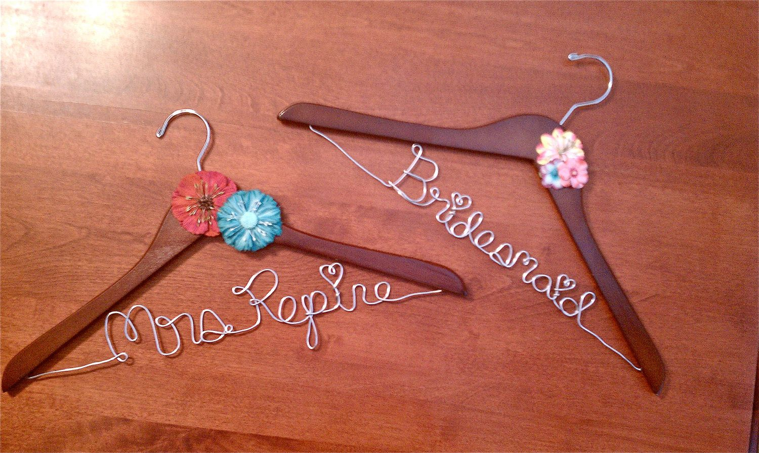 Personalized Wedding Hangers for Bride and Bridesmaids!