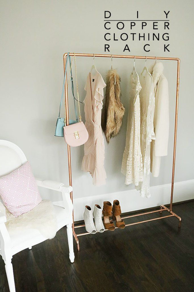 Diy Copper Clothing Rack Home Stuff Diy Clothes Rack