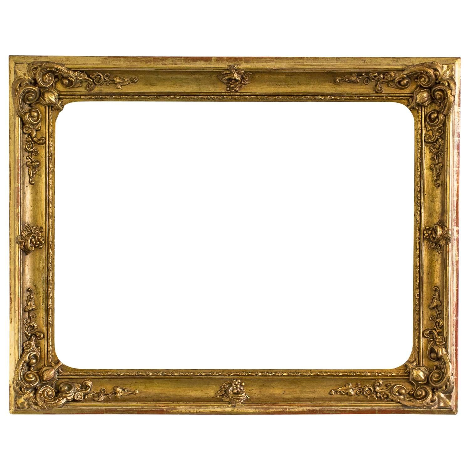 Large Gilded Baroque Picture Frame Austria Circa 1840 Decorative