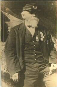 Sterling Daniel Sutliff, Co. F, 143rd PA Volunteers. It was taken September 11, 1889 at Devil's Den in Gettysburg.