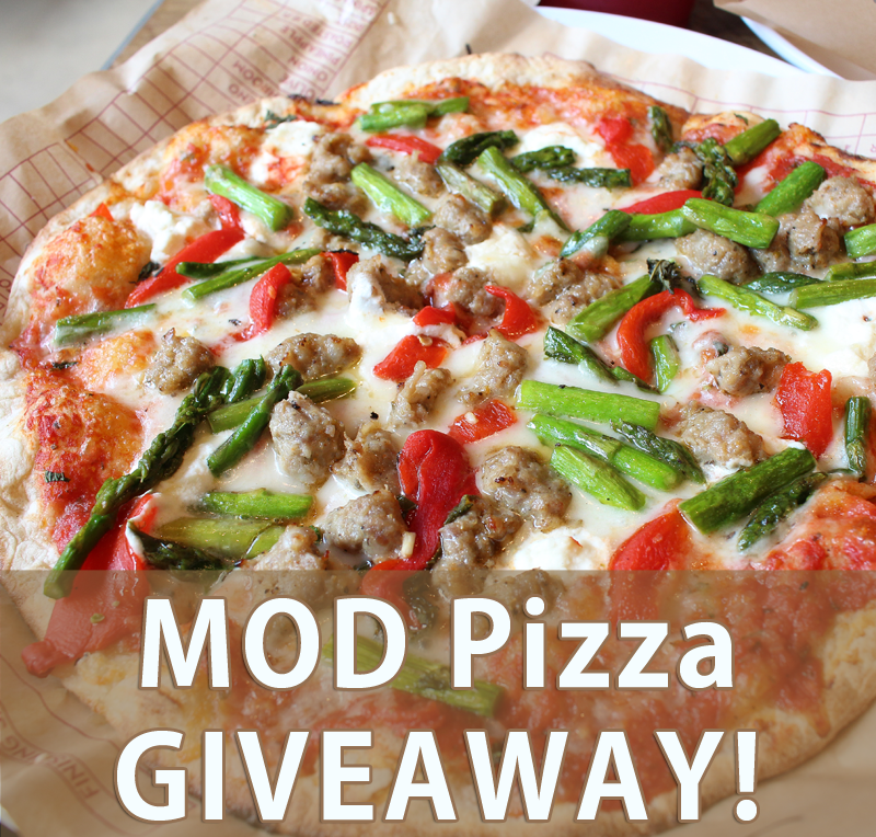 Enter for a chance to win 5 MOD Pizza coupons good for pizzas of any size with any toppings at any MOD Pizza location nationwide! #giveaway (Ends 5/19/16) #pizza #modpizza #familytime