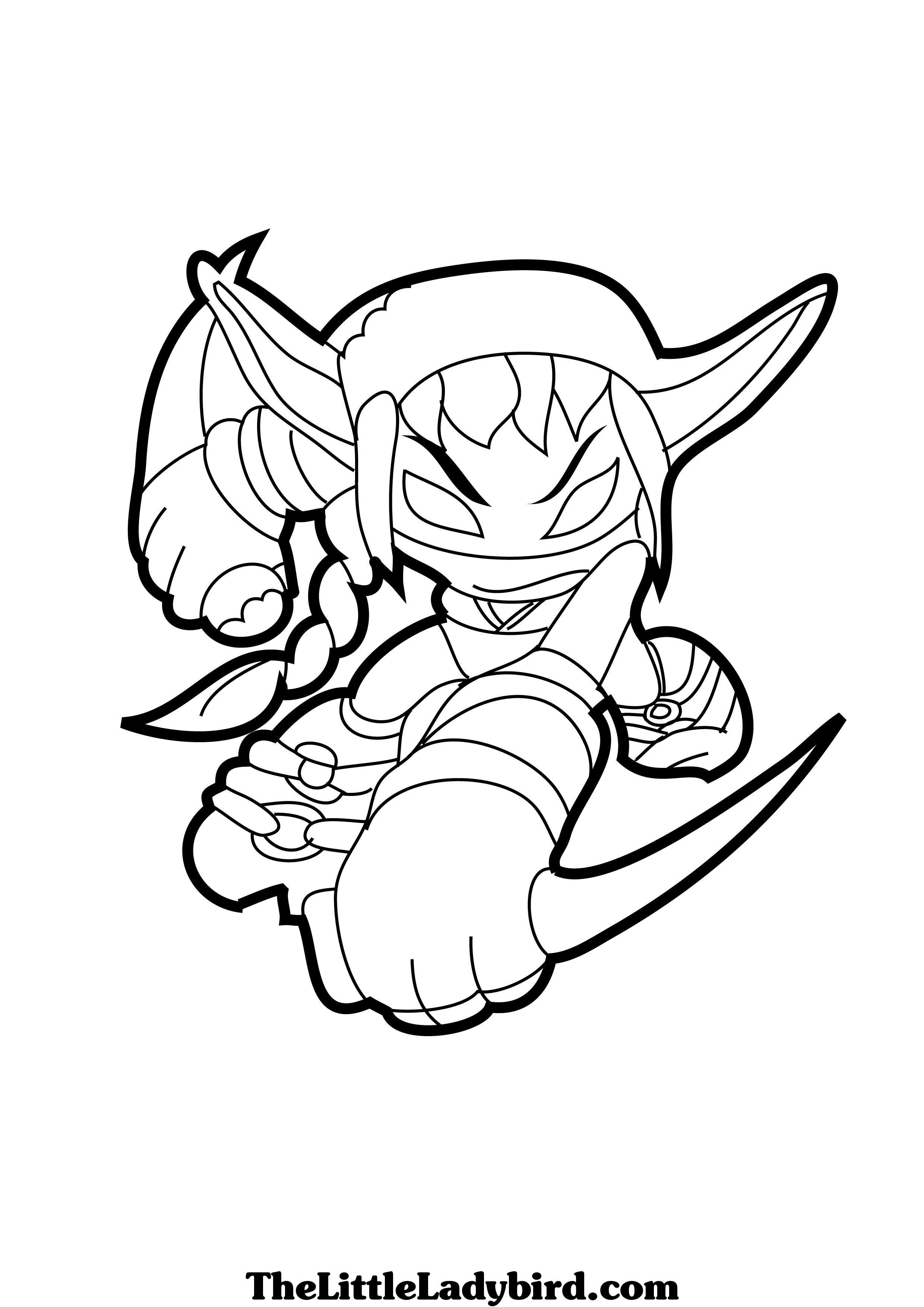 Free coloring pages for skylanders - Skylanders Coloring Page