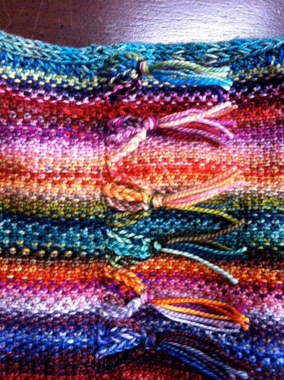 Prism Mobius Cowl, knitting pattern, Knit in round, fringed detail ...
