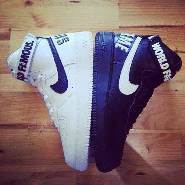Supreme x Nike Air Force 1 High | Tenis nike branco, Nike