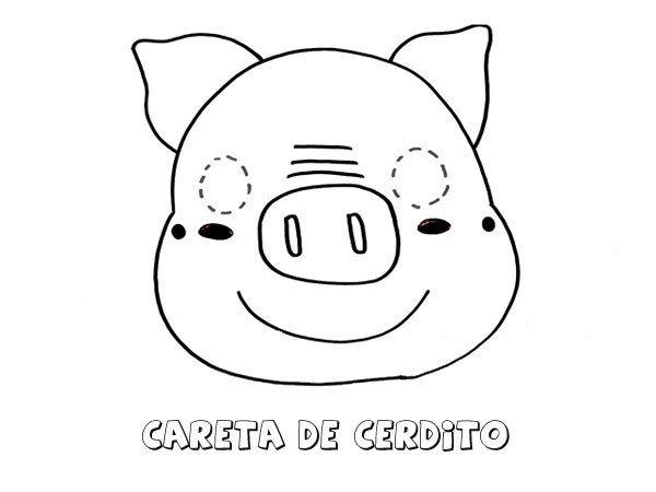 Careta de cerdo. Dibujos para colorear con los niños | fomy ...