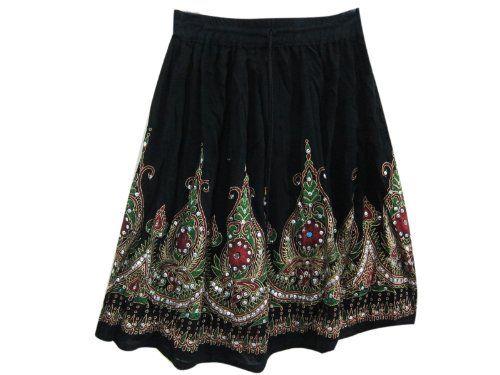 Black RED FLORAL Mini Skirt Designer Allover Sequin Boho Gypsy Skirts Mogul Interior,http://www.amazon.com/dp/B00D9PKAA8/ref=cm_sw_r_pi_dp_xKQbsb1MT4JJNTEV