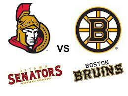 """Résultat de recherche d'images pour """"Ottawa Senators vs Boston Bruins"""""""