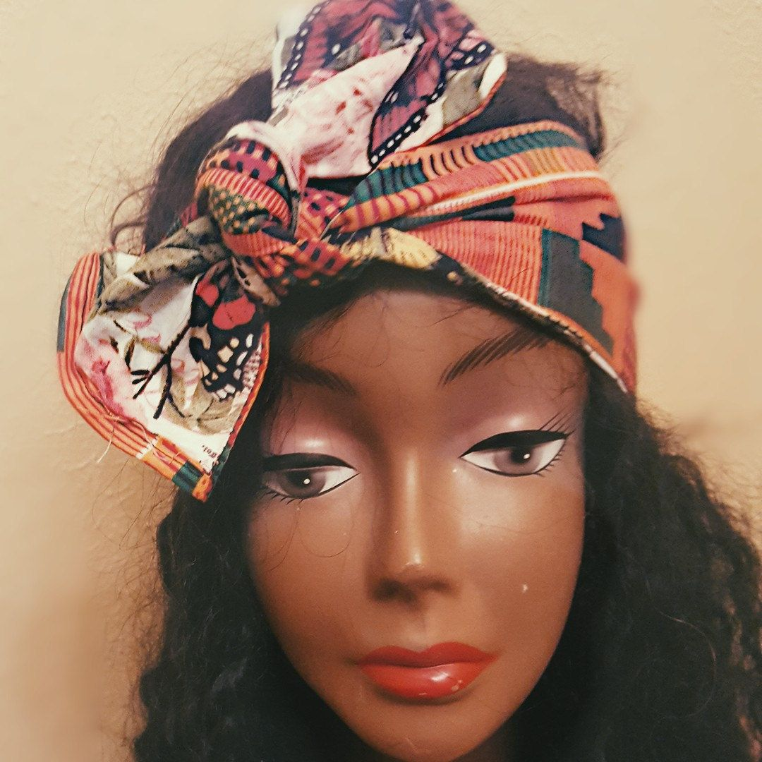 Children S Reversible African Butterfly Head Wrap Band Head