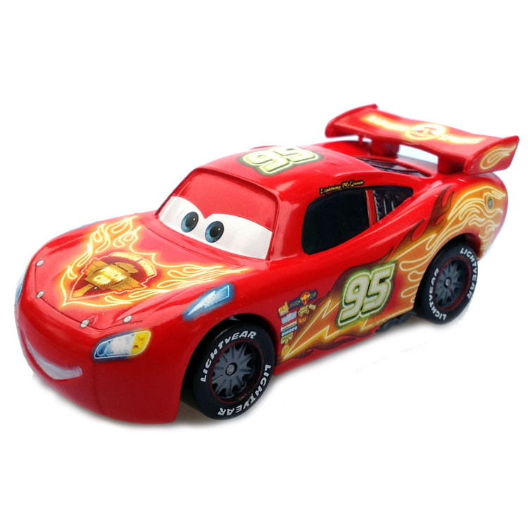 $10 99 - Mt Cars Neon Racers Lightning Mcqueen Red Metal Toy