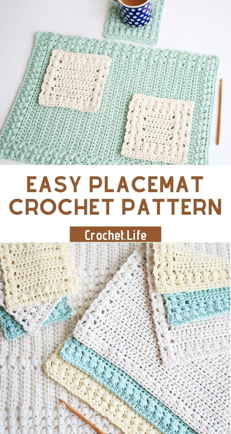These 3 Easy Crochet Placemat Patterns Are So Fun You Can Make An Easy Placemat In No Time For Crochet Placemat Patterns Placemats Patterns Crochet Placemats