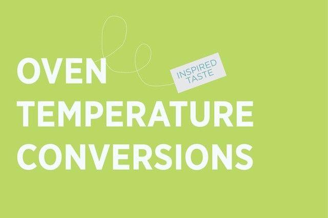 Oven Temperature Conversion Oven temperature conversion