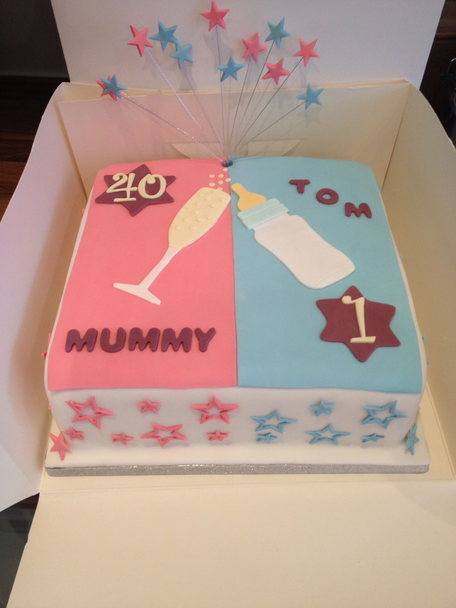 A Joint Birthday Cake For 40th And 1st
