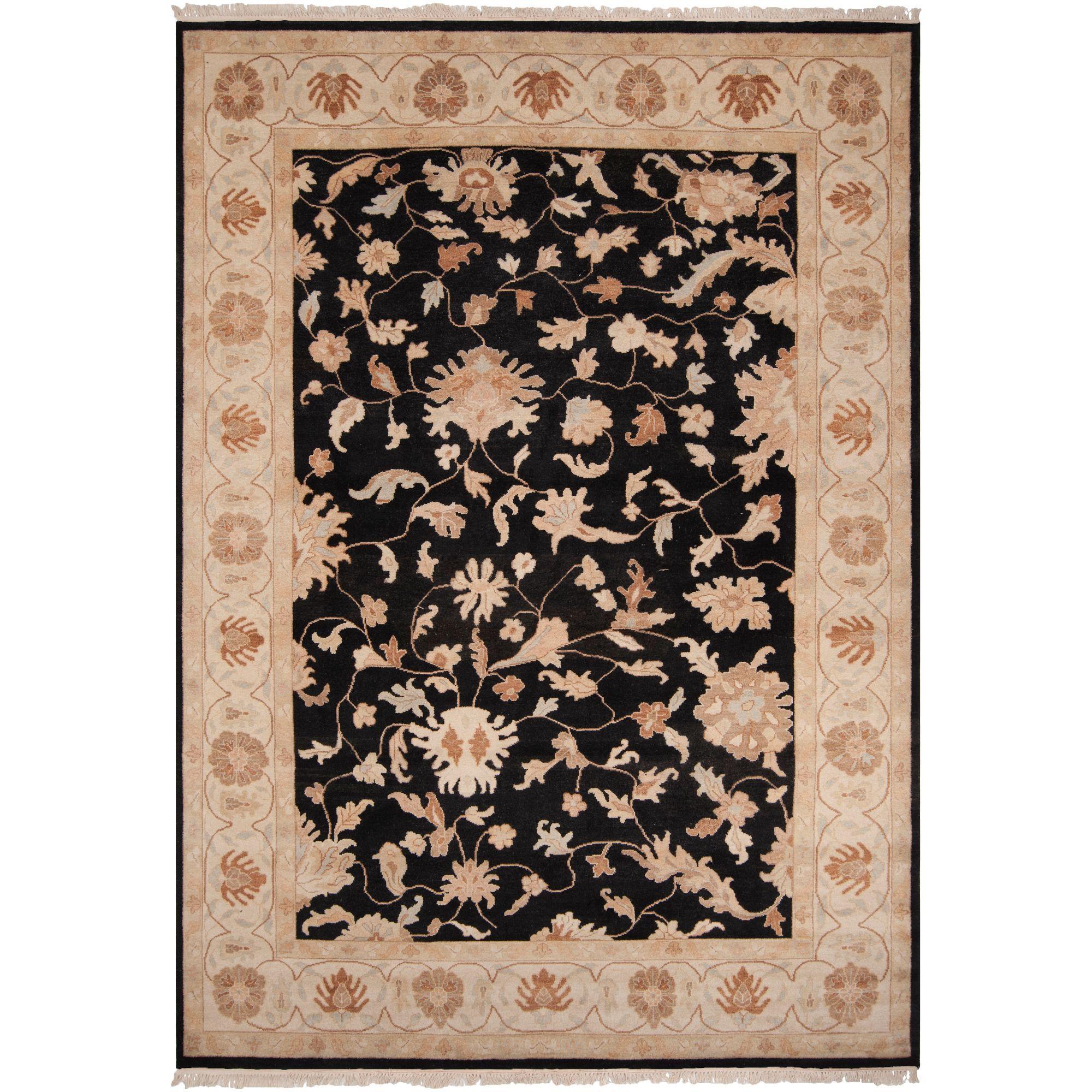9 X 13 Vintage Black And Brown