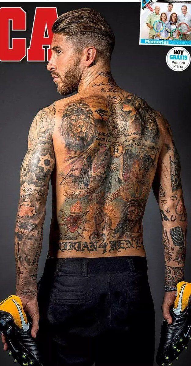 pinlio ayala on sergio ramos | tattoos, tattoos for guys, tattoo