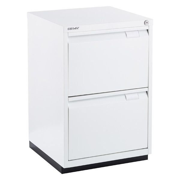 Bisley White Premium 2 Drawer Locking Filing Cabinet The Container Store Filing Cabinet Drawers Storage