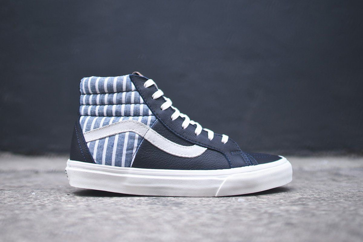 vans sk8 hi 46 ca striped dress blue