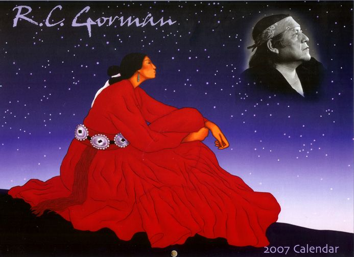 Rc Gorman 2007 Calendar With Authorized Lithographs Wall Art