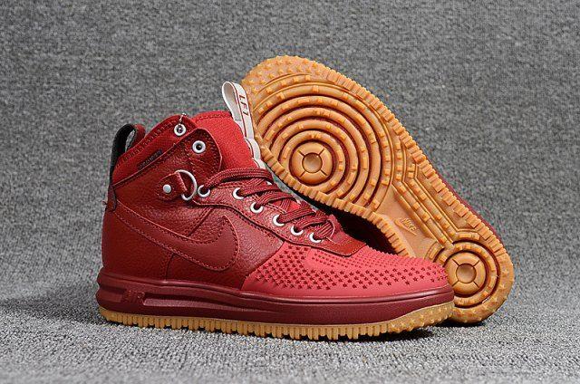 low priced 421b8 0c503 Nike Lunar Force 1 KPU Men s Sneakers Shoes Wine Red
