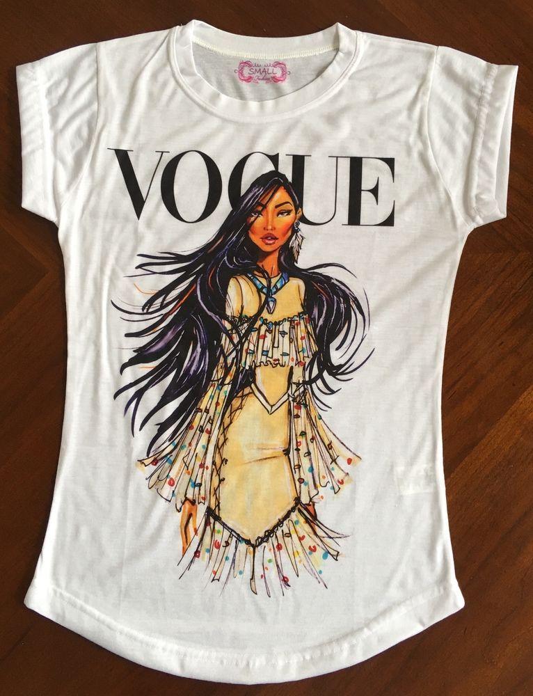 e0965cb815f Pocahontas vogue t-shirt tee woman   eBay   Love Fashion   T shirts ...