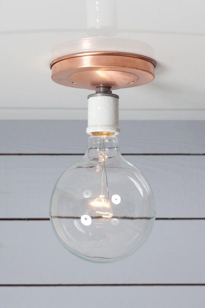 industrial lighting bare bulb light fixtures. Copper Ceiling Mount Light - Bare Bulb Industrial Electric 1 Lighting Fixtures A