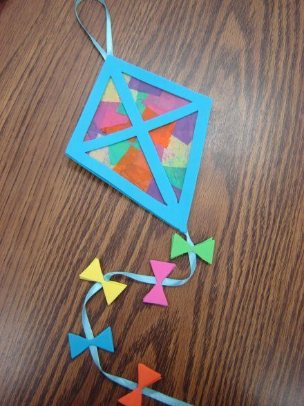 Another Idea For The Up And Coming Spring Kites Aprils National Kite Month Art Works Knuffle BunnyPreschool CraftsKid