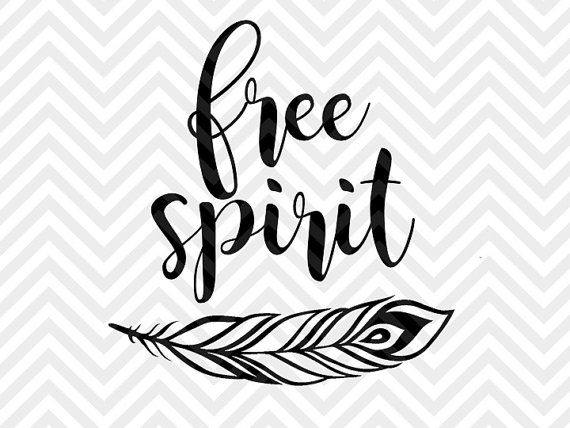 Free Spirit Feather SVG and DXF Cut File • PNG • Vector