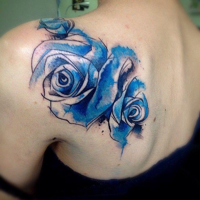 A Tatuagem Em Estilo Aquarela De Victor Octaviano