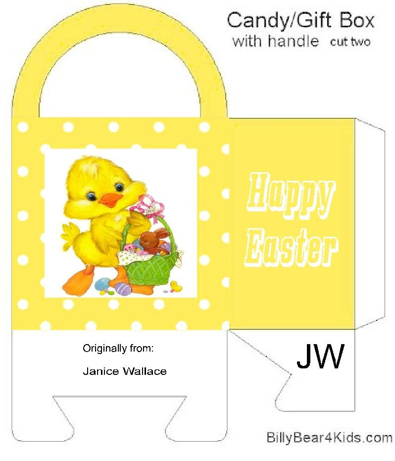 Pin By Alenka Cepa On Easter Bags Boxes Envelopes Easter Templates Easter Bags Candy Gift Box
