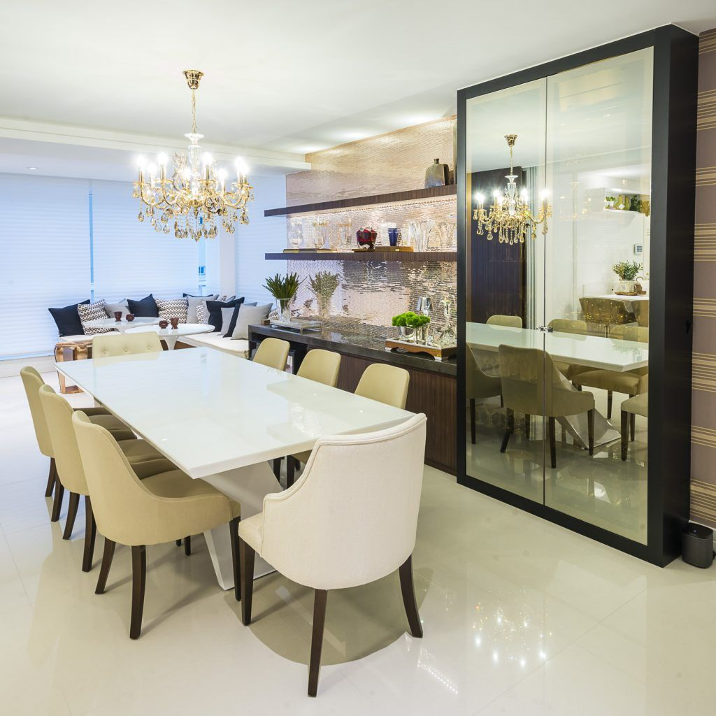 Projeto De Interiores Sala De Jantar Integra O Cristaleira