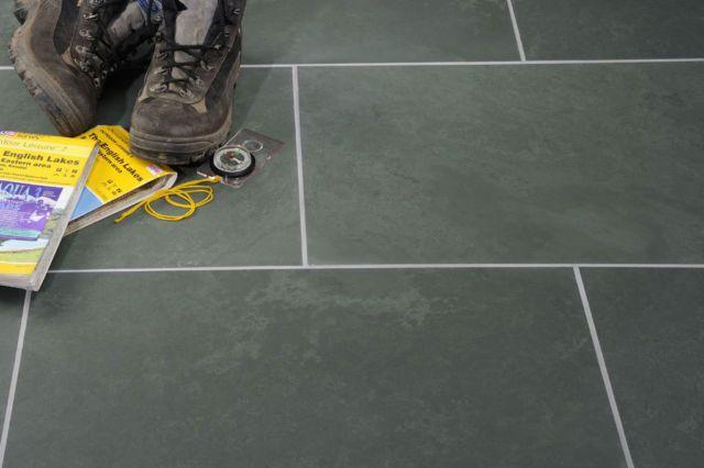 Grey Green Honed Slate Wall Floor Tiles Cumbrian Slate Tiles