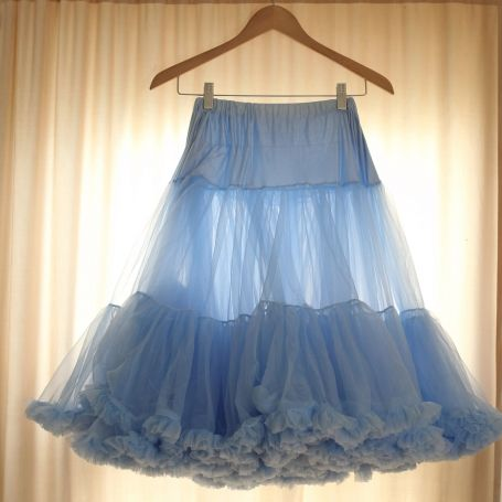 Color petticoats! Adds a pop of color to your dress when you move!