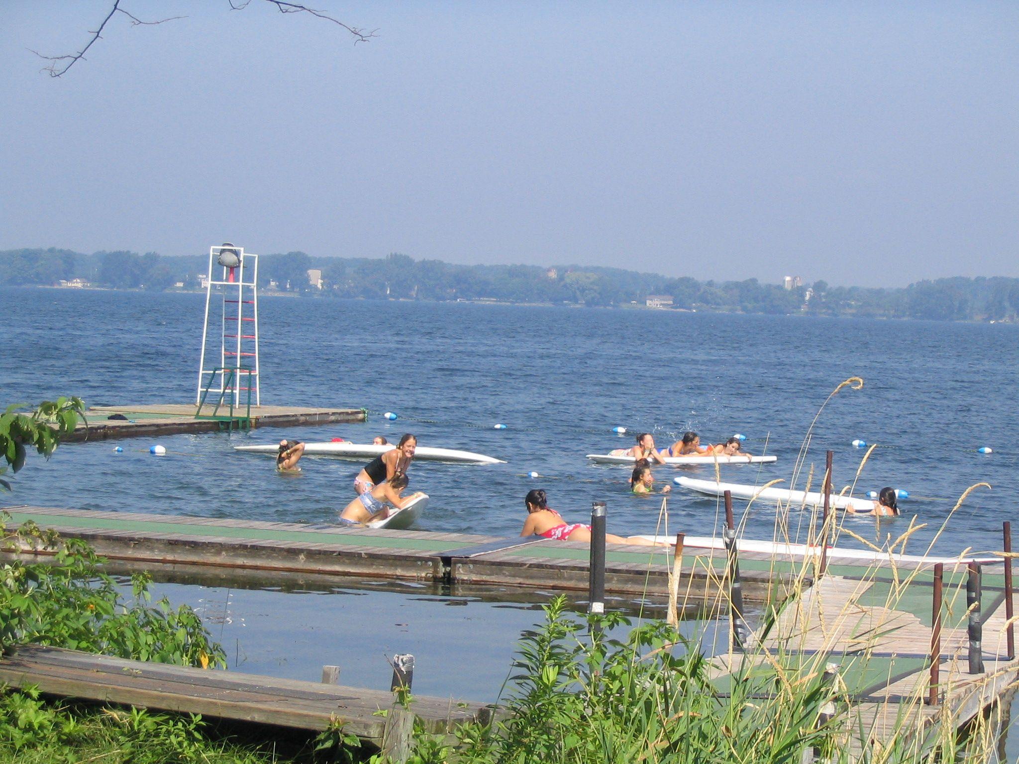 Camp trillium our island swimming area photo tour