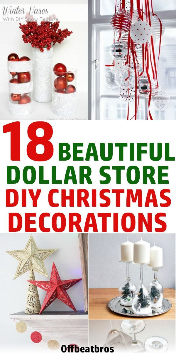 18 Stunning DIY Dollar Store Christmas Decoration Ideas -   20 christmas decorations ideas