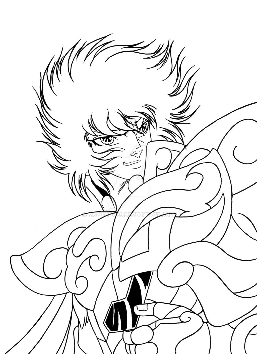 ikki_de_leo_ink_saint_seiya_by_muertito69 | Coloriage LES CHEVALIERS ...