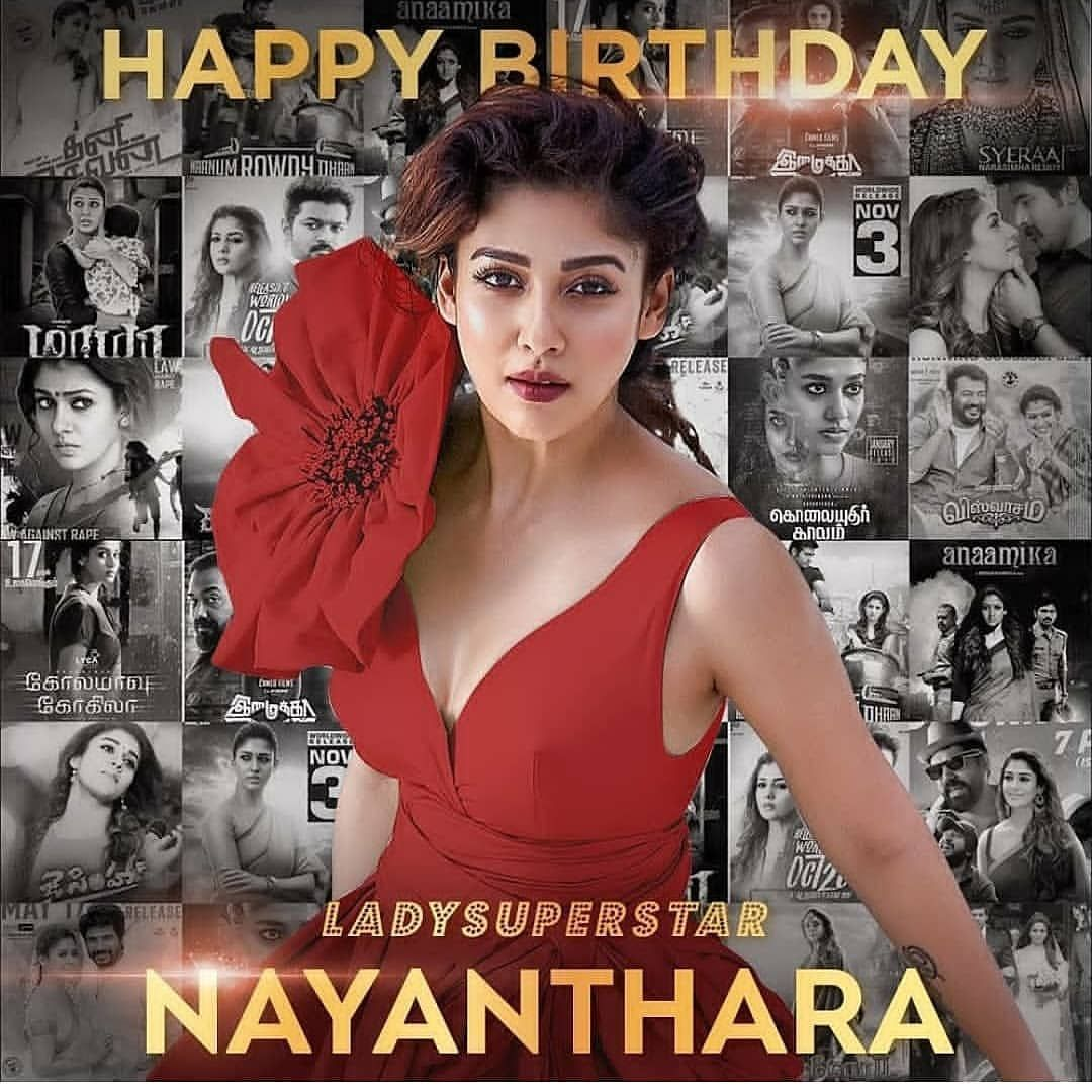 HBD kollywood biggie Lady Superstar Nayanthara mam Follow