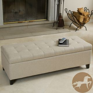 Christopher Knight Home Mission Beige Tufted Fabric Storage