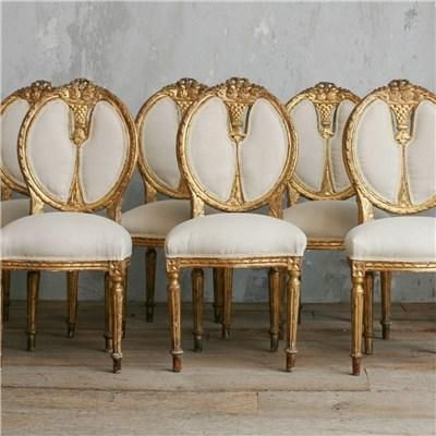 chairs antique chair dining room rose table set gold