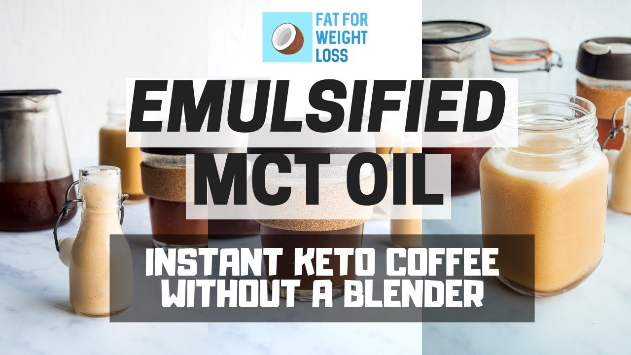 Instant keto coffee without a blender emulsified mct oil