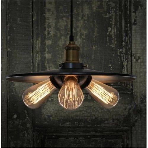 3 lights iron shade vintage pendant lamp
