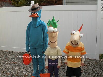coolest phineas ferb and perry costumes - Phineas Halloween Costume