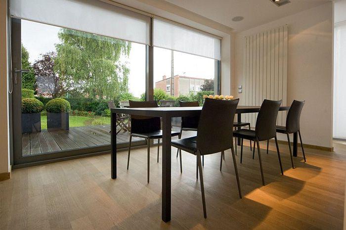Villa moderne / Aménagement design / Salle à manger / blanc