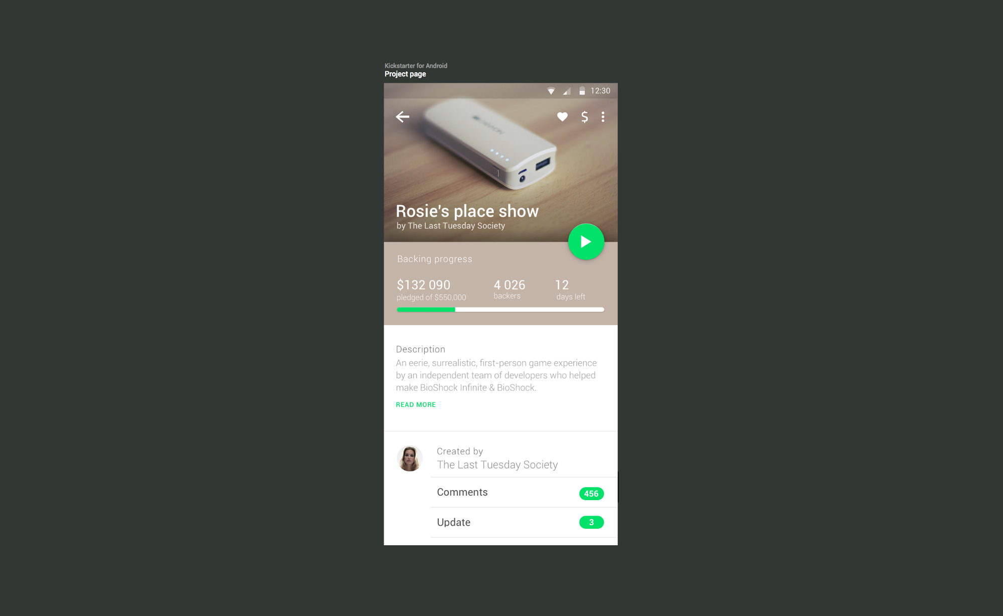 Kickstarter for Android — Android by outline — Medium