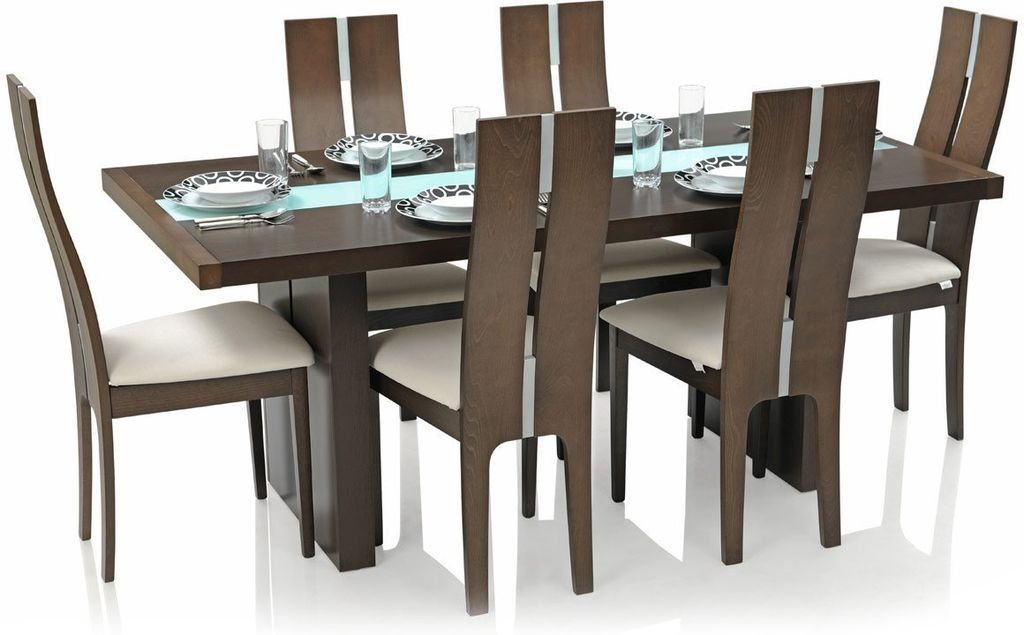Royal Oak Daffodil Six Seater Dining Table Set Brown